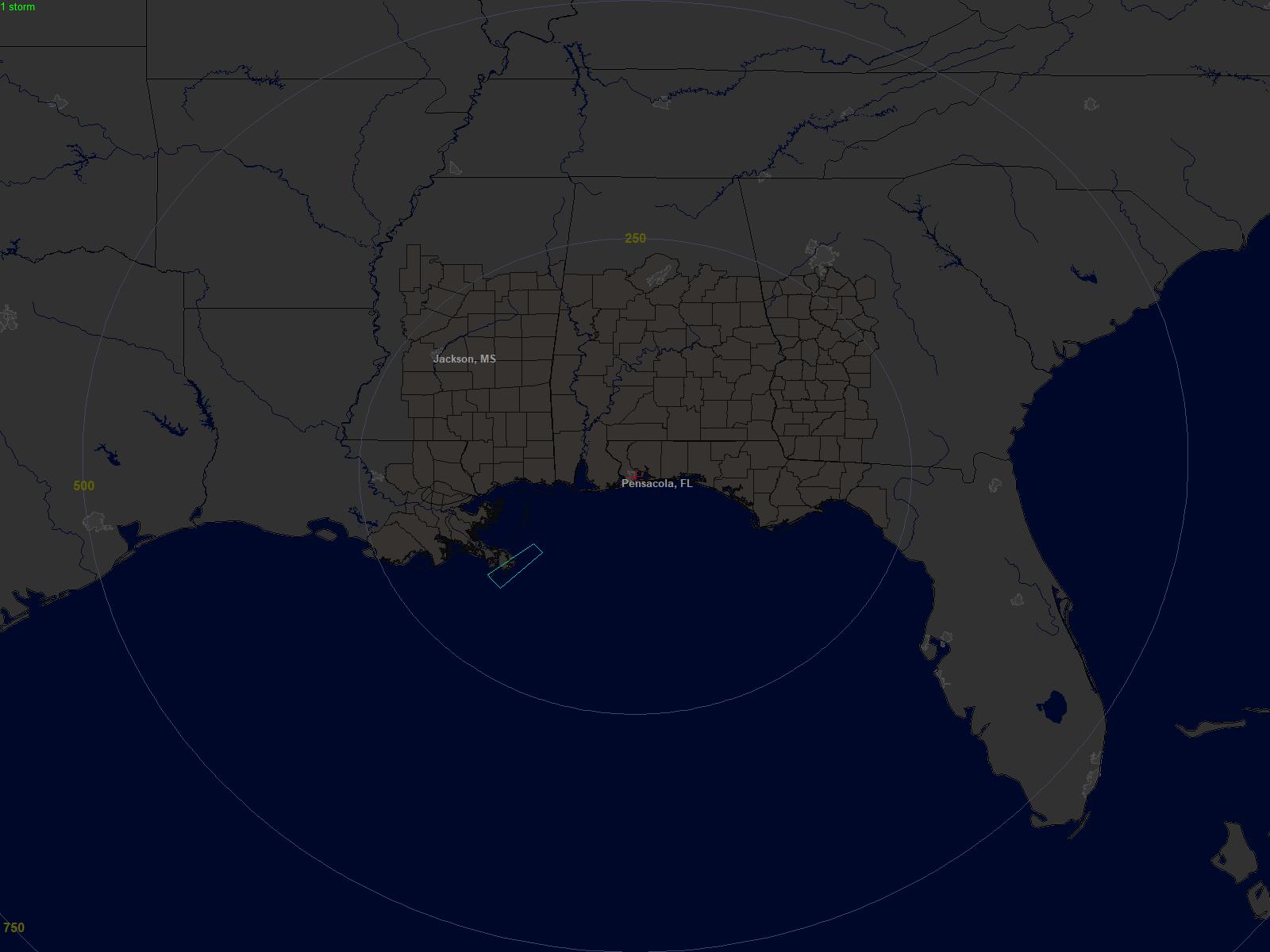Lightning Map Pensacola Fl